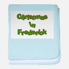 Christmas in Frederick baby blanket