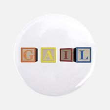 """Gail Alphabet Block 3.5"""" Button"""