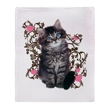 Cute Kitten Kitty Cat Lover Throw Blanket