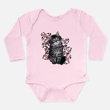 Cute Kitten Kitty Cat Lover Long Sleeve Infant Bod