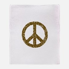 Vintage Peace Sign Throw Blanket