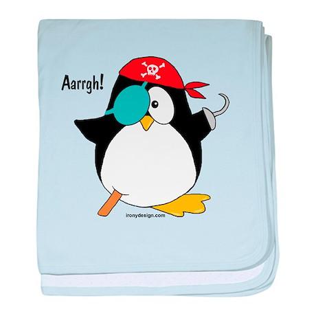 Pirate Penguin baby blanket