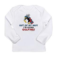 Golfing Penguin Long Sleeve Infant T-Shirt