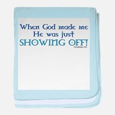 When God Made Me.. baby blanket