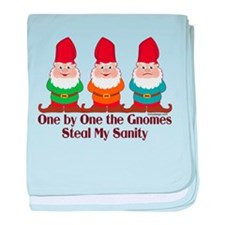 One By One The Gnomes baby blanket