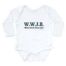 WWJD - Christian Long Sleeve Infant Bodysuit