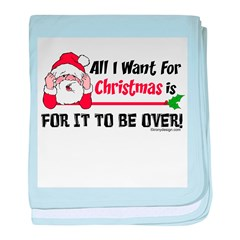 All I Want For Christmas baby blanket