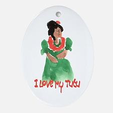 Tutu U`i - Pretty Grandma Ornament (Oval)