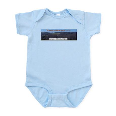 Blue Ridge Mountains Infant Bodysuit