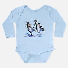 Cute Sexy penguin Long Sleeve Infant Bodysuit