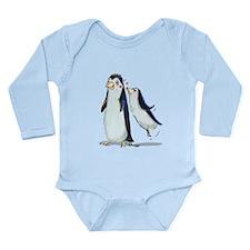 pEnGuIn KiSs Long Sleeve Infant Bodysuit
