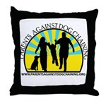 Parents Against Dog Chaining Throw Pillow