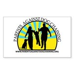 Parents Against Dog Chaining Sticker (Rectangle)
