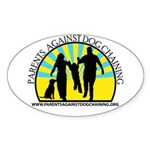 Parents Against Dog Chaining Sticker (Oval 50 pk)