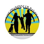 Parents Against Dog Chaining Ornament (Round)