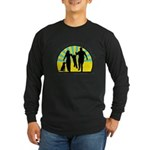Parents Against Dog Chaining Long Sleeve Dark T-Sh