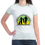 Parents Against Dog Chaining Jr. Ringer T-Shirt