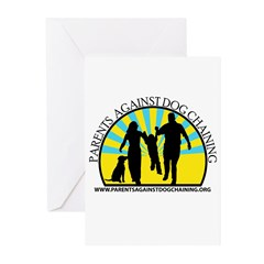 Parents Against Dog Chaining Greeting Cards (Pk of