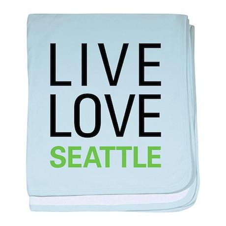 Live Love Seattle baby blanket