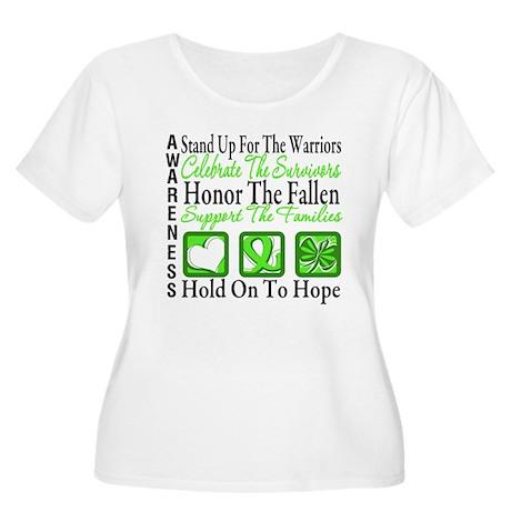 Lymphoma Hope Tribute Women's Plus Size Scoop Neck