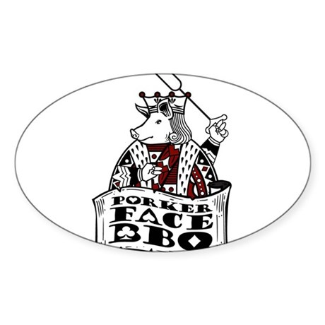 Porker Face Sticker (Oval 50 pk)