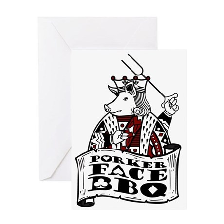 Porker Face Greeting Card