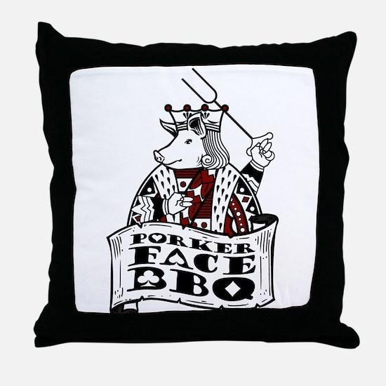 Porker Face Throw Pillow