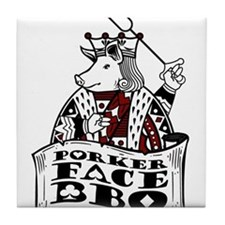Porker Face Tile Coaster