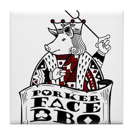 Porker Face Tile Coaster