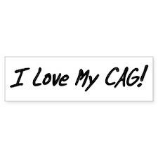 I Love My Cag! Bumper Sticker (white)