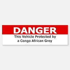 Danger: Congo African Grey Bumper Bumper Bumper Sticker