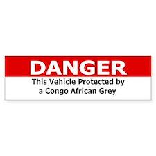 Danger: Congo African Grey Bumper Bumper Sticker