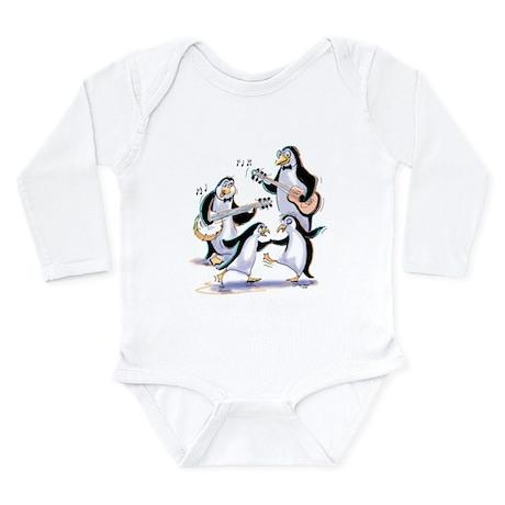 pEnGuInS sWiNgInG Long Sleeve Infant Bodysuit