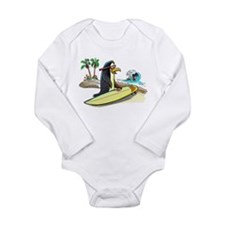 PeNgUiN SuFeRs Long Sleeve Infant Bodysuit