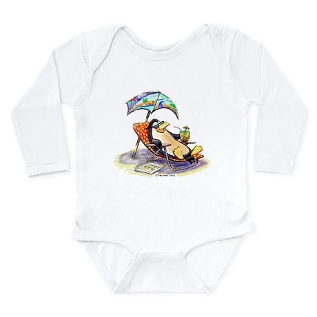 tRoPiCaL pEnGuIn Long Sleeve Infant Bodysuit