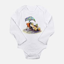 tRoPiCaL pEnGuIn Long Sleeve Infant Bodysuit