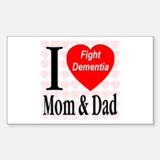Fight Dementia Sticker (Rectangle)