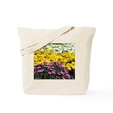 Colorful Mums Tote Bag