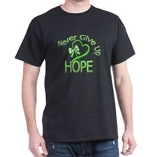 Never Give Up Hope Lymphoma T-Shirt