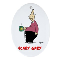Scary Gary Ornament (Oval)