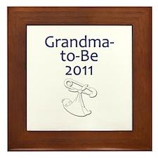 Grandma-to-Be 2011 Framed Tile