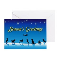 Doggy Season's Greetings Greeting Card