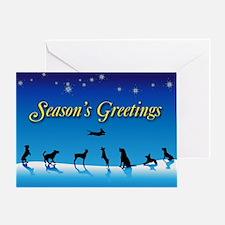 Doggy Season's Greetings Greeting Card