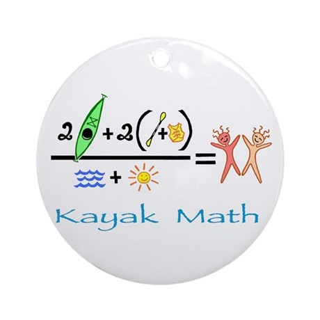 Kayak Math Ornament (Round)