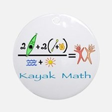 Kayak Math Ornament (Round)