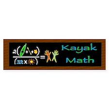 Kayak Math Bumper Sticker
