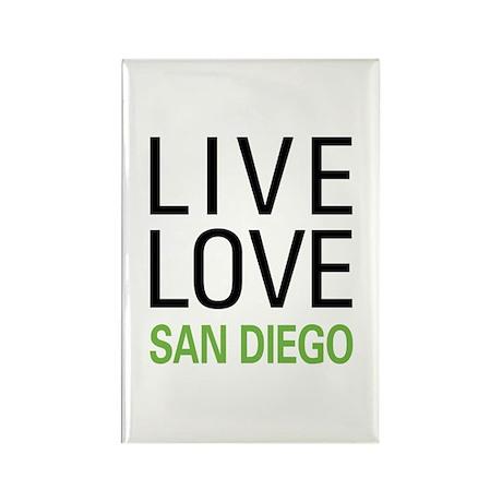 Live Love San Diego Rectangle Magnet
