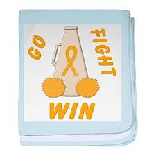 Gold WIN Ribbon baby blanket