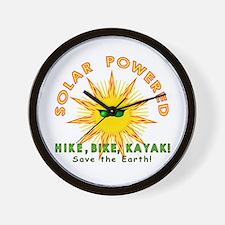 Solar Powered Wall Clock