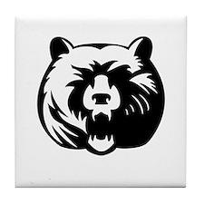 Ferocious Grizzly Tile Coaster
